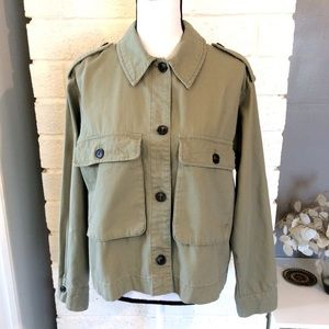 H&M Olive/Army Green Button Front Jacket